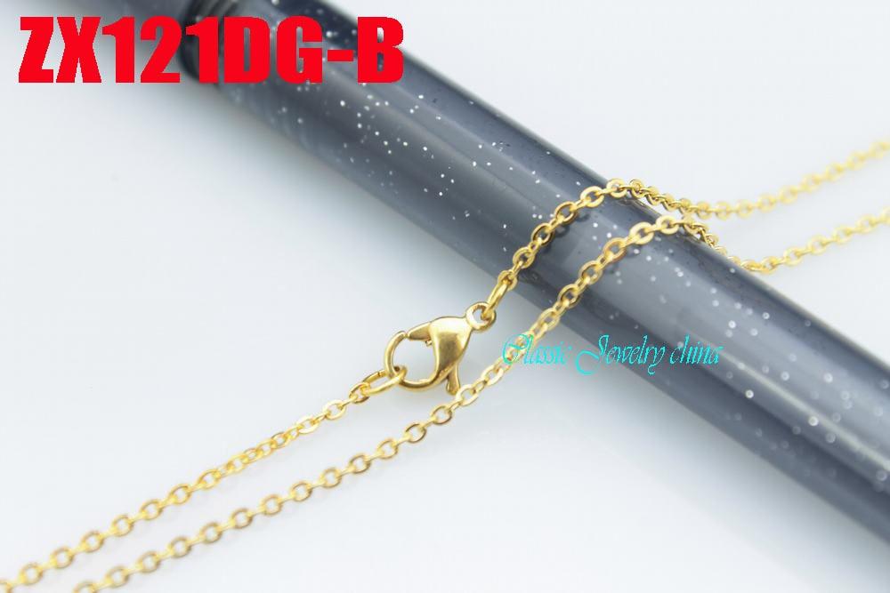 Ոսկե գույնի չժանգոտվող պողպատե վզնոց - Նորաձև զարդեր - Լուսանկար 1