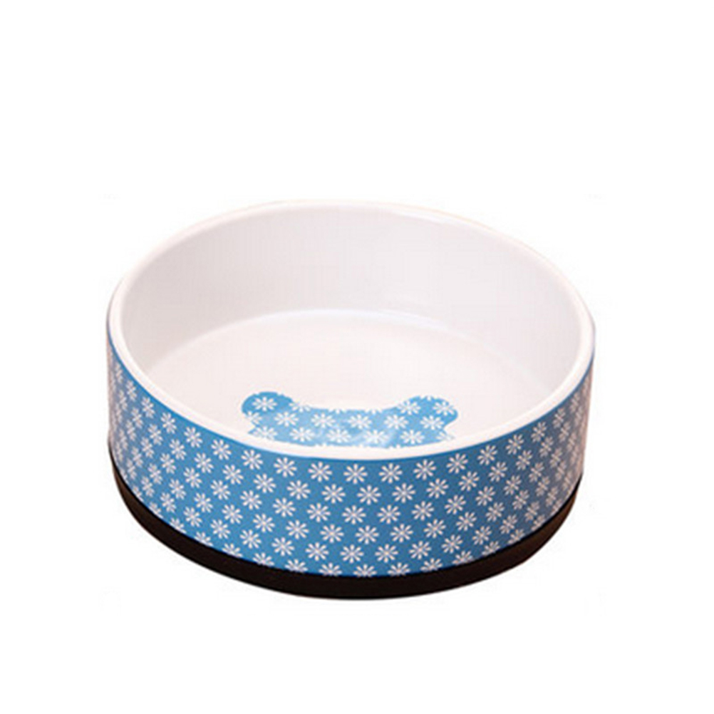 Pet Dog Cat Feeding Bowl Collapsible Water Dish Portable Feeder Puppy Travel Bowls with Rubber Sole (Blue)