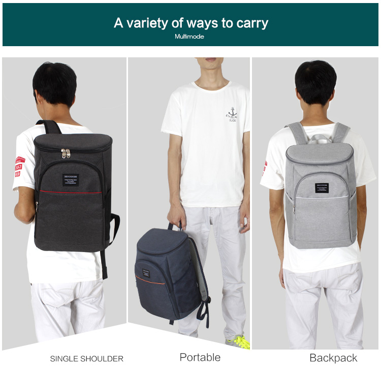 DENUONISS 20L Thermal Backpack Waterproof Thickened Cooler Bag Large Insulated Bag Shoulder Picnic Cooler Backpack