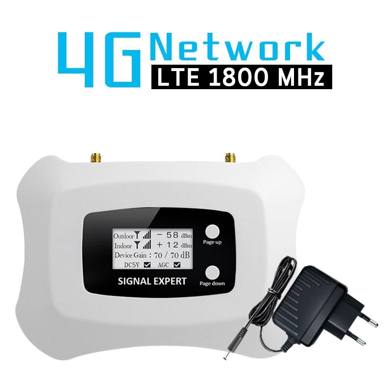 4G LTE 1800 MHz bande de répéteur de Signal cellulaire 3 affichage LCD 70dB Gain 4G DCS 1800 amplificateur de Signal de téléphone portable 4G LTE