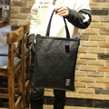 The trend of Korean men's casual Handbag Satchel Bag Leather back shopping bag retro student bag