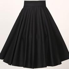 S до 3XL размера плюс женская одежда Классическая Пышная юбка в полный круг черный красный 5xl 4xl