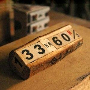 2017 Wood Calendar Zakka Furnishing Articles Manually Small Desk Vintage Calendar Household Daily Log Crafts Wood