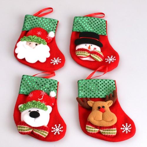 Christmas Santa Sack Candy Stocking Gift Father XMAS Present Filler ...