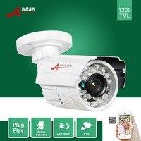 ANRAN HD 1200TVL 1/2. 5 SONY CMOS IMX138 Sensör 24 IR Açık Gece Görüşlü Güvenlik Suya Bullet Kamera CCTV IR-Cut