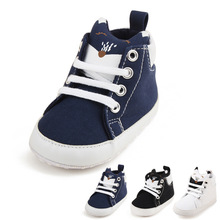 2019 Spring and Autumn Boys Girls New Three-color Fox High Tied Casual Toddler Shoes Baby