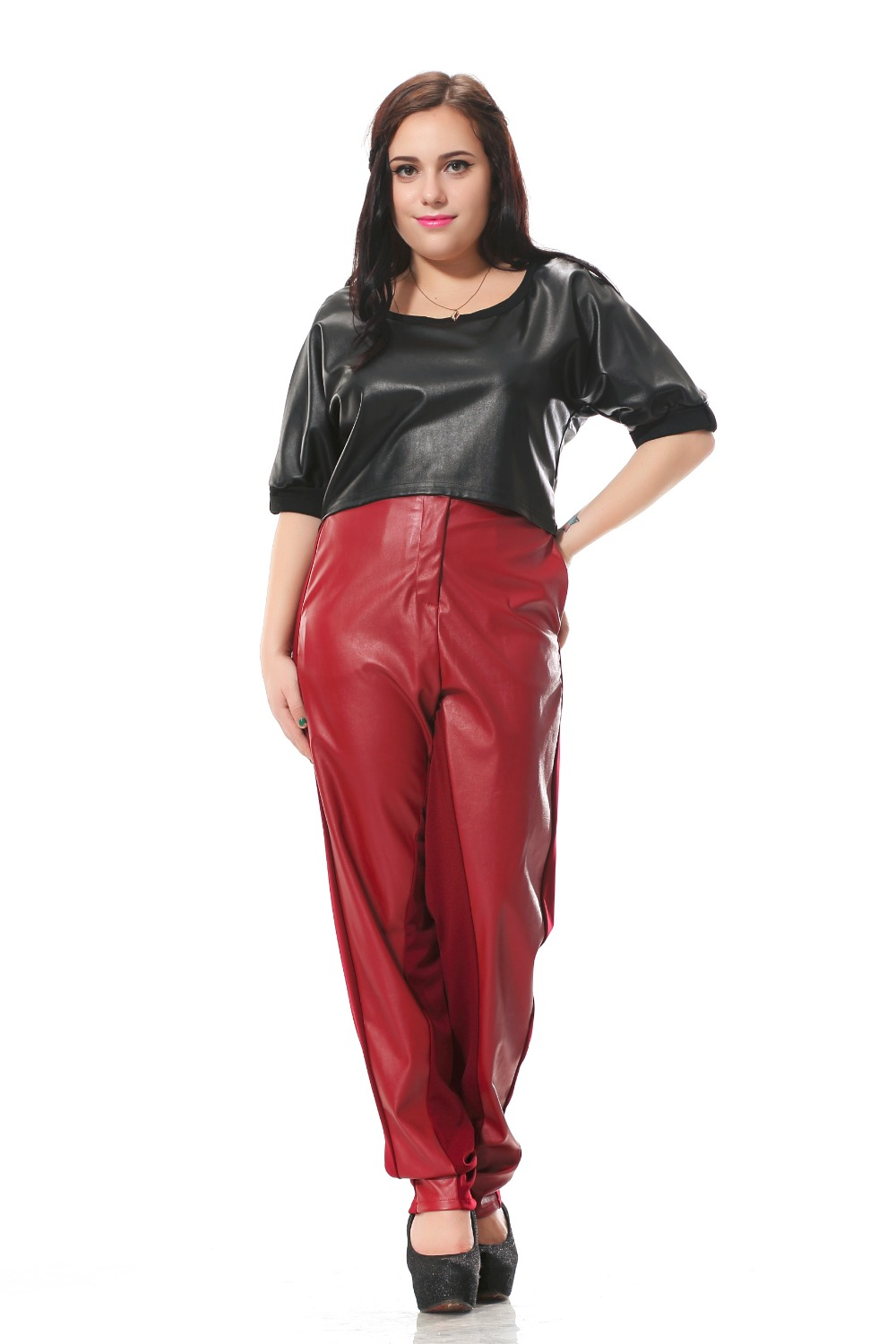 Online Buy Wholesale Red Leather Pants From China Red