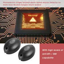 Sensor infravermelho seguro para portão, 2 pc/lote sensor infravermelho de detector/balanço/deslizante/garagem/portão/porta de segurança infravermelho fotocélulas sistema de segurança