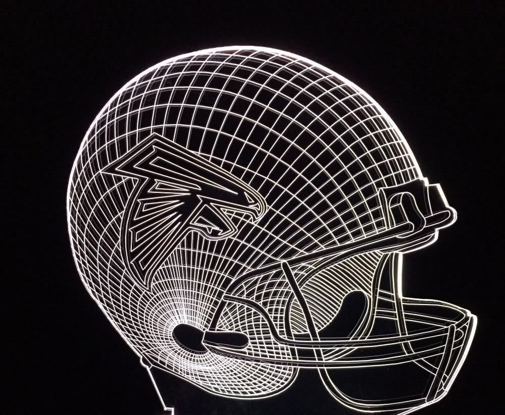 LED 3D lamp variety styles football helmet Lamp 3D Visual Led for Kids Touch USB Table Lampara Baby Sleeping Nightlight Lamp
