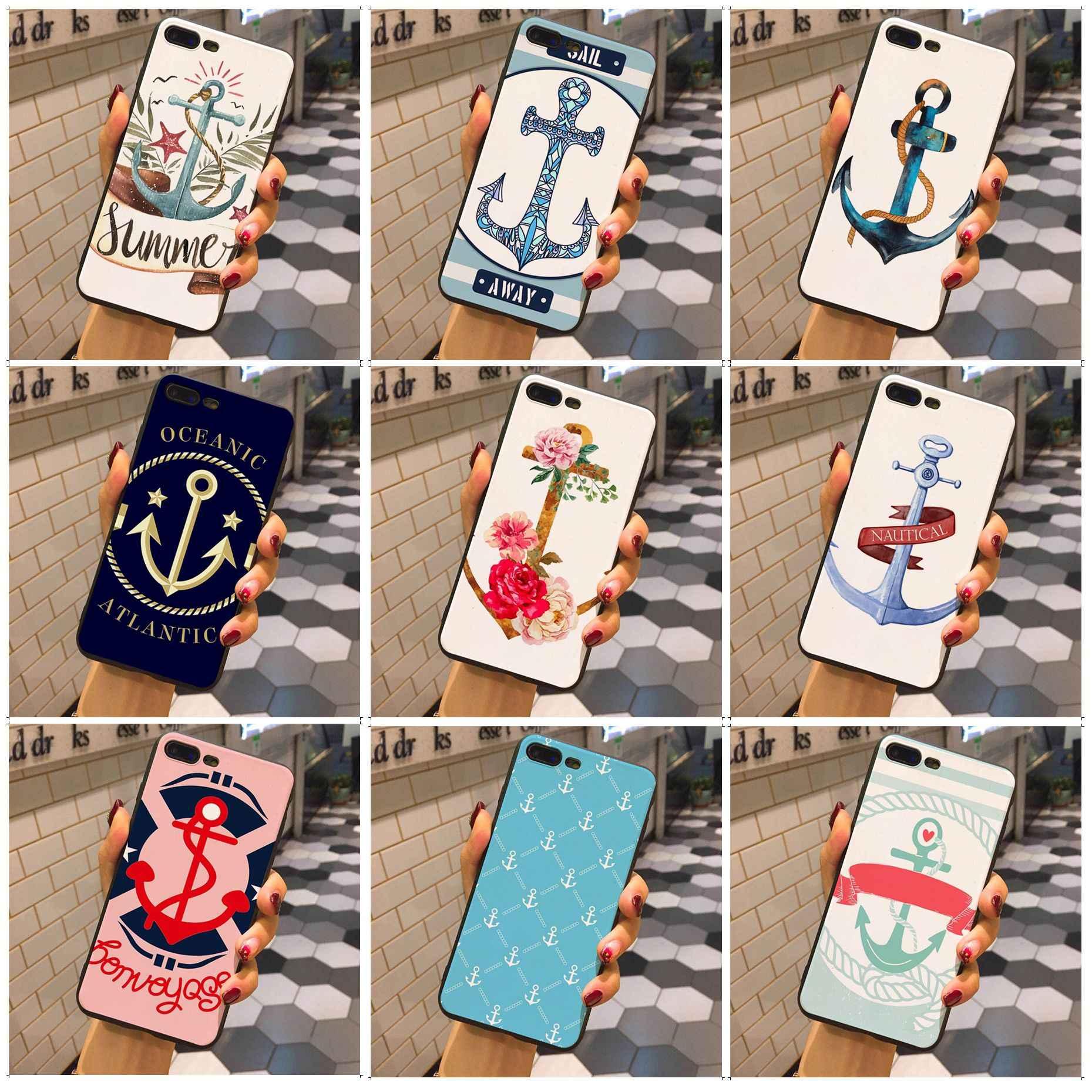 MaiYaCa Nautical Anchor โรแมนติก Retro Design ทาสีสไตล์โทรศัพท์กรณีสำหรับ iphone 7 7plus X XS XR 8 8plus 6 6s 6plus 5 5s SE