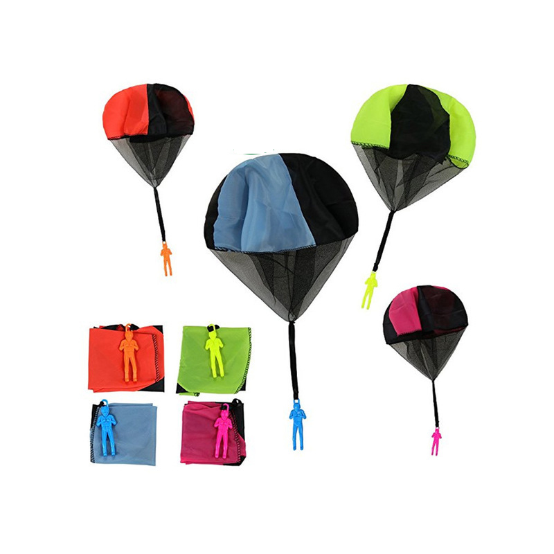 Mini Hand Throwing Parachute Outdoor Sports Kids Toy Playing Soldier Parachute Fun Flying Educational Toys