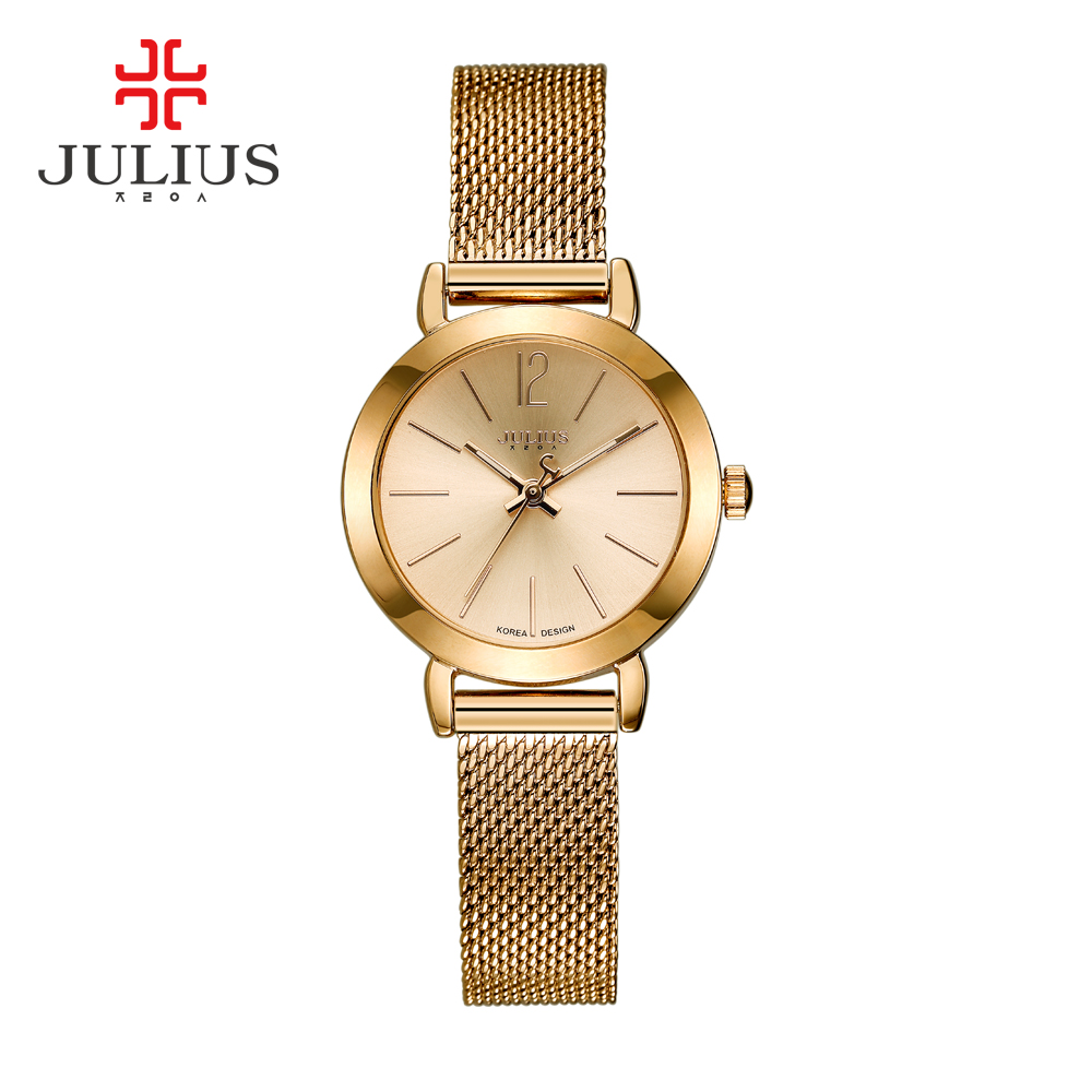 New Top Brand Julius Watch Women Luxury Dress Full Steel Watches Fashion Casual Ladies Quartz Watch Rose gold Female Table Clock jinen women new top quality brand watches japan quartz waterproof rose gold stainless steel watch business luxury female clock