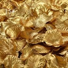 1000 шт./лот, золотые/Серебристые лепестки роз, официальное вечернее украшение, полиэстер, искусственные лепестки роз, свадебные цветы SR02