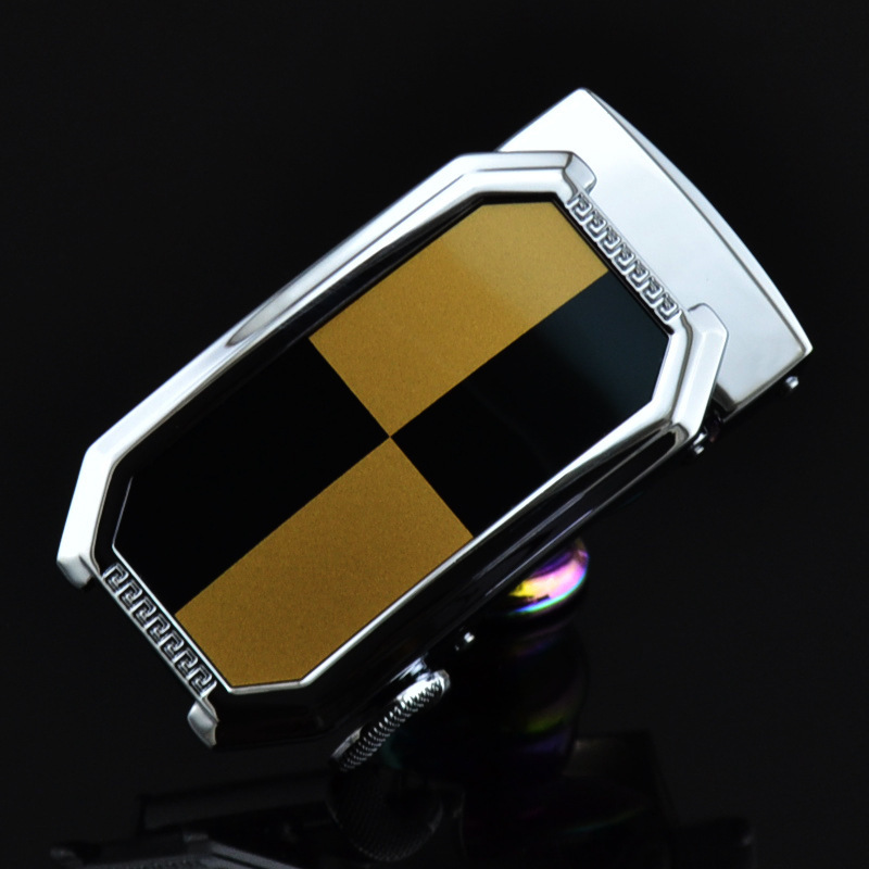 Men's Business Alloy Automatic Buckle Unique Men Plaque Belt Buckles 3.5cm Ratchet Men Apparel Accessories Designer Belt LY1161
