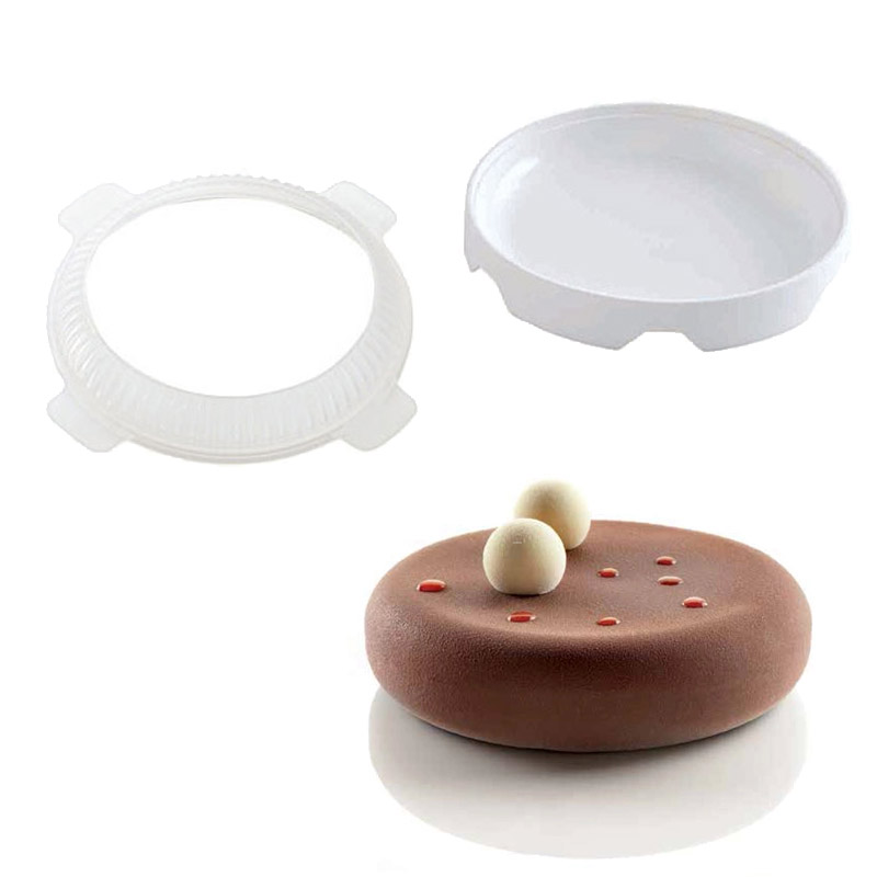 2PCS lot Top Eclipse Silicone Cake Mold For Mousses Ice Cream Chiffon Cakes Baking Pan Decorating