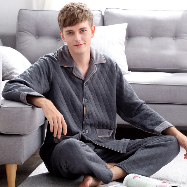 2016 invierno hombres adultos pijamas de navidad pijamas ropa de dormir conjunto de algodón para hombres casual para los hombres de la familia de navidad pijamas ropa de dormir bien
