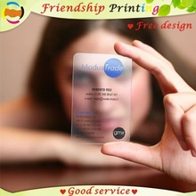 Transparent Custom Name/visiting-Card Business-Card-Printing/plastic Pvc
