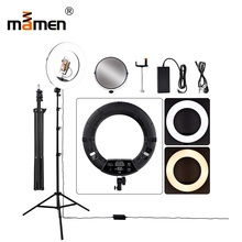 Camera Studio Phone Video 96W 480pcs LED Ring Light Photography Dimmable Makeup Ring Lamp With 200CM Tripod LCD Screen/Mirror yidoblo pink 96w 480pcs bi color photo studio ring led video light photographic lamp lcd screen display with remote controller