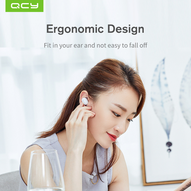 QCY qm1 mono mini Invisible earphone wireless Bluetooth 5.0 headphone noise canceling headset with microphone handsfree calls