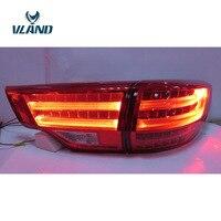 VLAND завод для заднего света для Highlander светодиодный фонарь 2015 2016 2017 Highlander задний фонарь с светодиодный свет бар