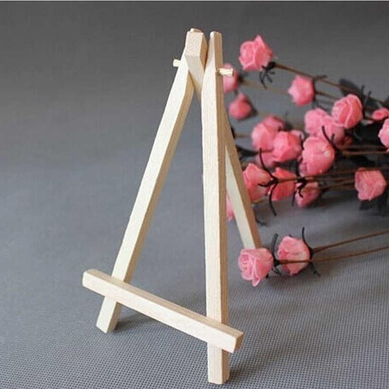 1pc ミニ木製アーティスト三脚絵画イーゼルのための写真の絵はがきディスプレイホルダーフレームかわいいデスク装飾 8*15 センチメートル