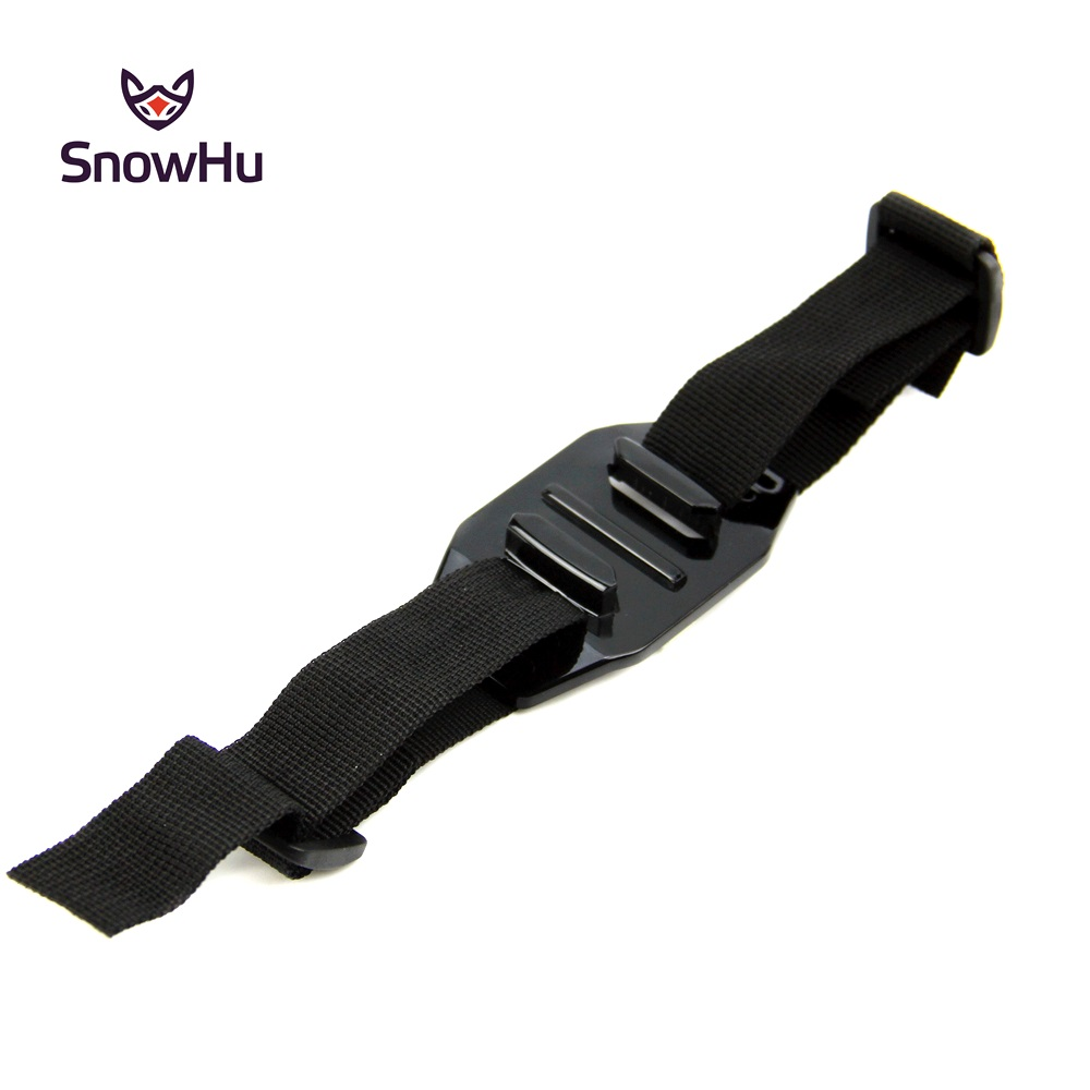 SnowHu Black Vented Adjustable Head Helmet Strap Belt Go Pro Accessories Mount Holder Adapter For Gopro Hero 8 7 6 5 4 GP04