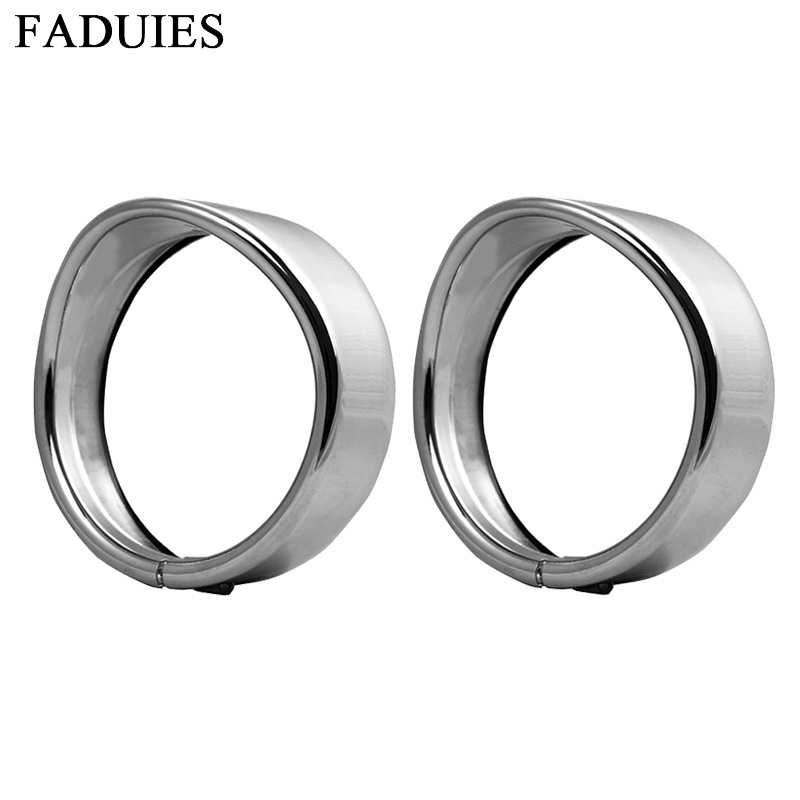 FADUIES Motorcycle accessories Chrome 4.5 4 1/2 LED Auxiliary light Visor Style Passing Lamp Trim Ring For Motorcycle FADUIES Motorcycle accessories Chrome 4.5 4 1/2 LED Auxiliary light Visor Style Passing Lamp Trim Ring For Motorcycle
