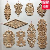 European Long Wooden Carving Door Flower Dresser Applique Furniture Door Decals Home Improvement A745