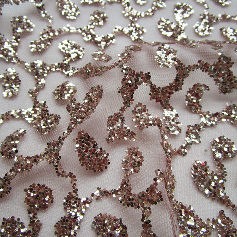 3 yards french art rose gold lace glitter net fabric sequins shining prom dress  mesh fabric sewing diy cloth -in Fabric from Home   Garden on  Aliexpress.com ... 761d4dce0f13