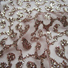 3yd Lot French Art Rose Gold Lace Glitter Net Fabric Sequins Shining Prom Dress Mesh Fabric