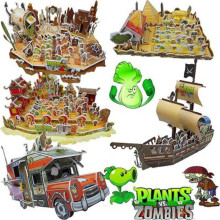 World Pirates Plants VS Zombie Future Scene Edition Model Building Blocks Bricks Fit my Toys For Chidren My Gift