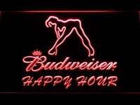 627 Budweiser Sexy Dancer Happy Hour Bar LED Neon Sign