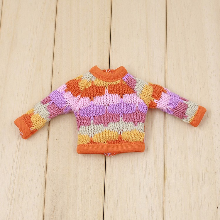 Neo Blythe Doll Colorful Sweater 8