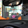 Car Rear View Mirror Crystal Bling Round Ball Pendant Hanging Decoration For Mini COOPER JCW S