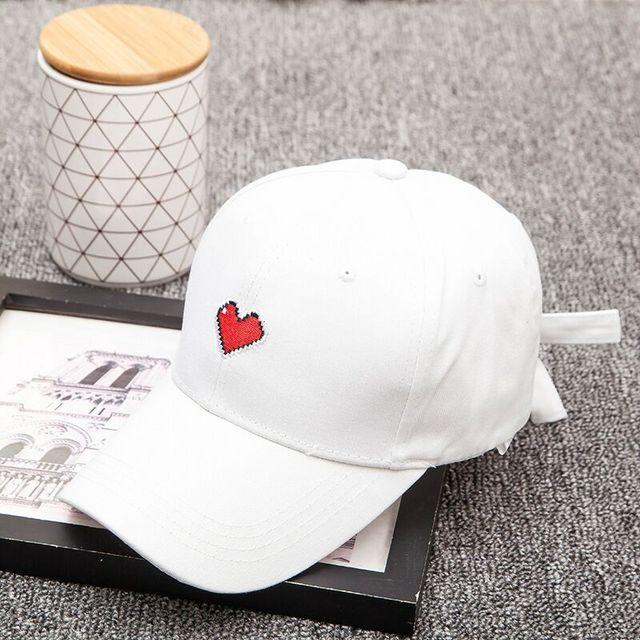 Batu gadis topi bisbol topi wanita musim panas 2018 korea pria lucu merah  muda berbentuk hati 0211701748