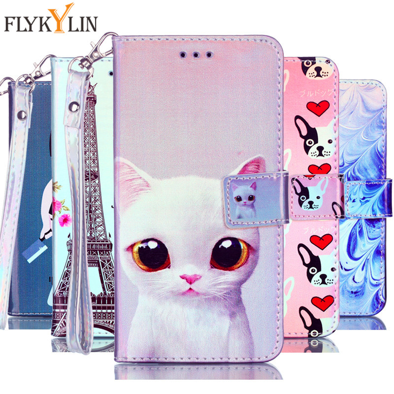 3d Painted Case For Huawei P20 Lite Pro P10 P9 Lite Phone Pu Leather Flip Wallet Cove For Huawei P Smart P8 Lite 2017 Box Capa Clear And Distinctive