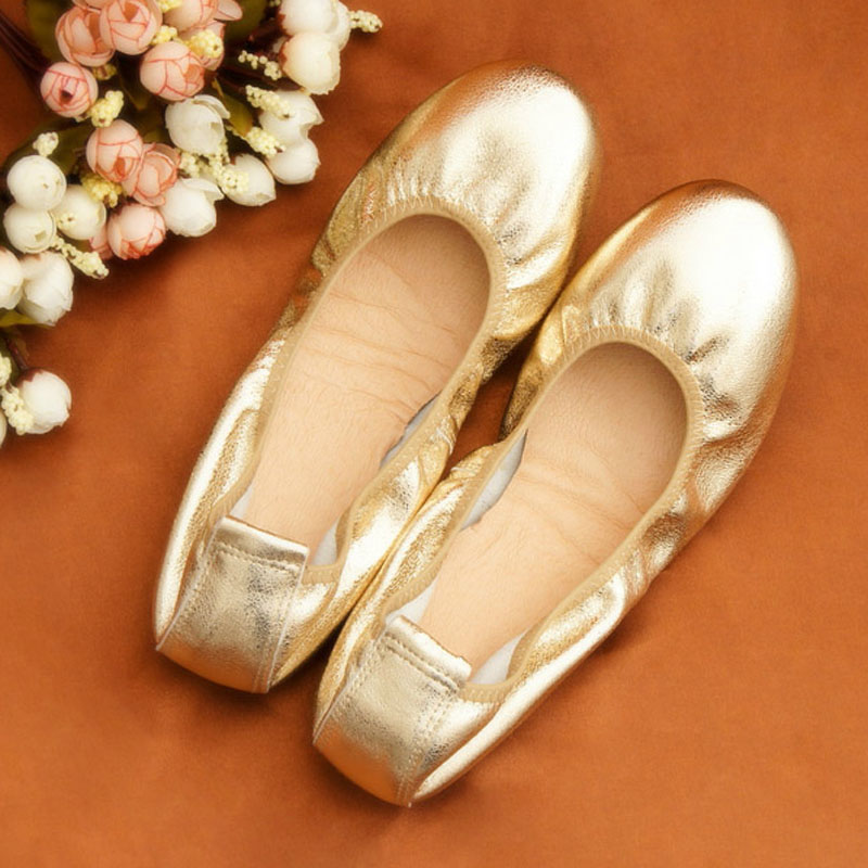 2018 new women leather shoes woman single shoes shallow round tow spring autumn ballet flats shoes women casual shoes 2019 Genine Leather Single Shoes Woman Shallow Mouth Round Toe Lady Loafers Spring Autumn Female Ballet Flats Shoes Big Size 43