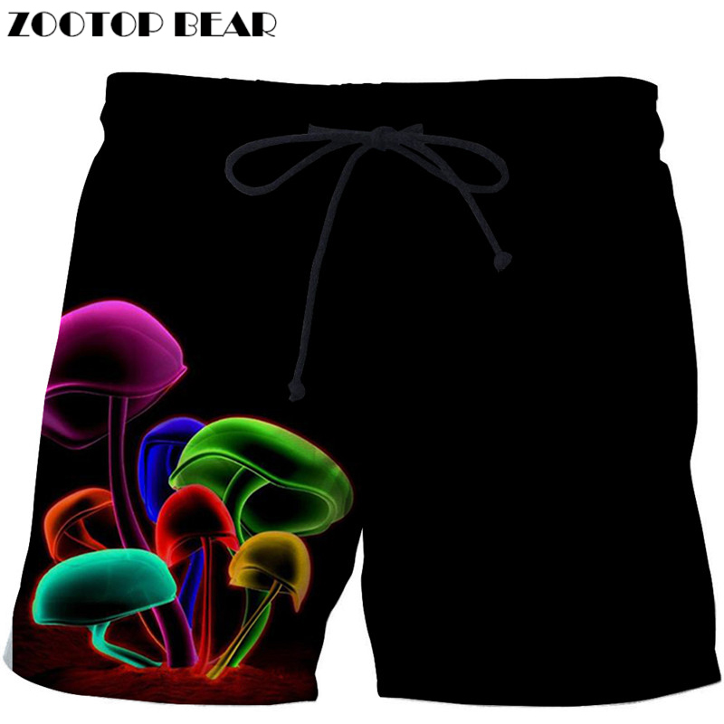 Mashroom Printed Beach   Shorts   Men   Shorts   Plage 3d Unisex   Board     Shorts   Quick Dry Pant Summer Swimwear Cool DropShip ZOOTOPBEAR