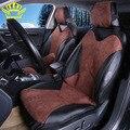 2016 Novo Design PU Couro Alcantara Auto Universal Assento de Carro-Car Covers Protecter para Toyota kia aio ford focus lada kalina