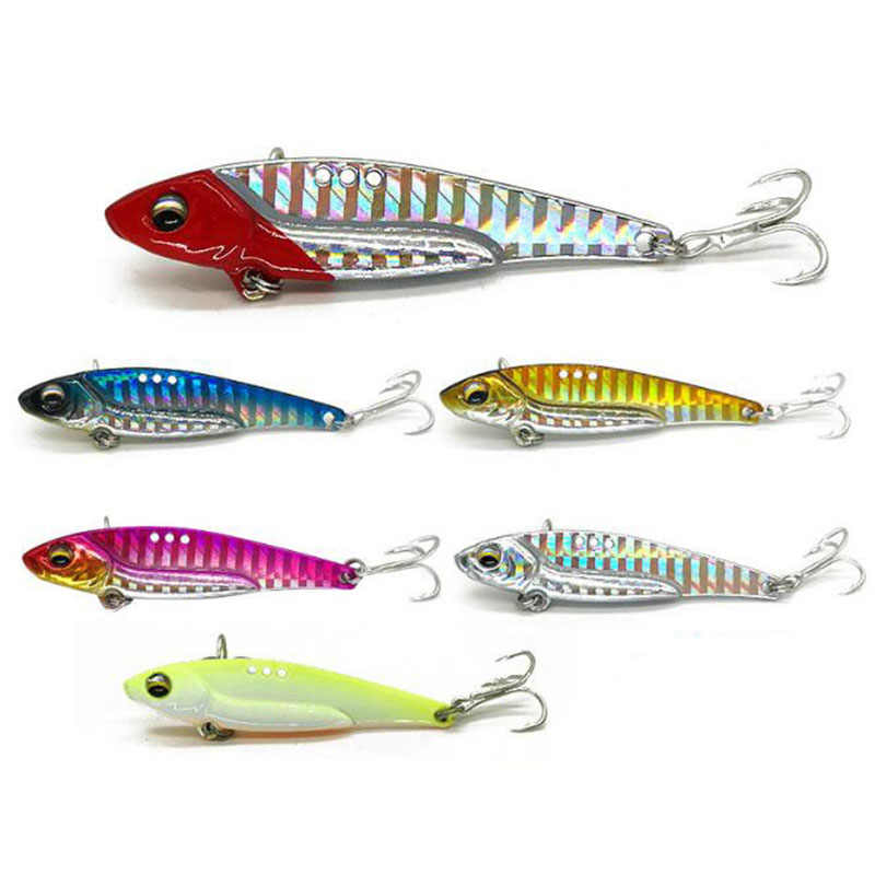 2019 New Arrival Metal Laser VIB Fishing Lure 7g13g16g Fishing Tackle Crankbait Vibration Spoon Spinner Sinking Bait Tackle
