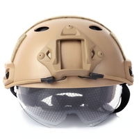 Military Crashworthy Protective Tactical Helmet For CS Airsoft Paintball Game 3 Colors