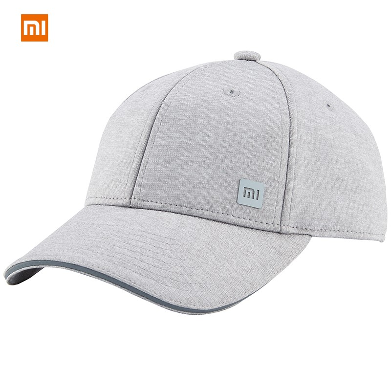 original Xiaomi mi Baseball Cap 3 Colors Unisex hat Popular Design Sweat Absorption Reflective Snapback Hip Hop For Men Women fashion letter label embellished shinning pu baseball cap for men and women