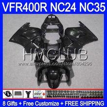 RVF400R для HONDA VFR400 R NC24 V4 VFR400R 87 88 94 95 96 91HM. 3 ЛРВ ПВП 400 глянцевый черный NC35 1987 1988 1994 1995 1996 обтекателя