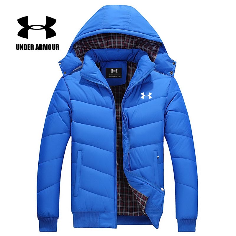 Under Armour Men Winter Cotton Jacket Brand Leisure Sports Jackets Outdoor Thick Coats Chaqueta Hombre invierno Asian Size M-6XL все цены