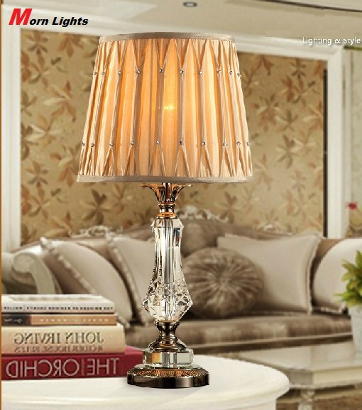 Modern crystal table lamp luxury brief fashion decoration lamp fashion decoration Abajur lamps modern brief fashion ofhead lamps table lamp