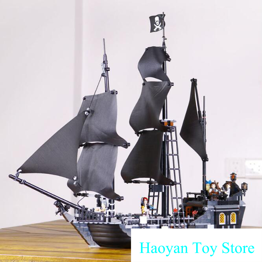 The Black Pearl Ship 804Pcs Bricks Set Sale Pirates Of The Caribbean Building Blocks Toys for Children Compatible lepin 16006 804pcs pirates of the caribbean black pearl building blocks bricks set the figures compatible with lifee toys gift