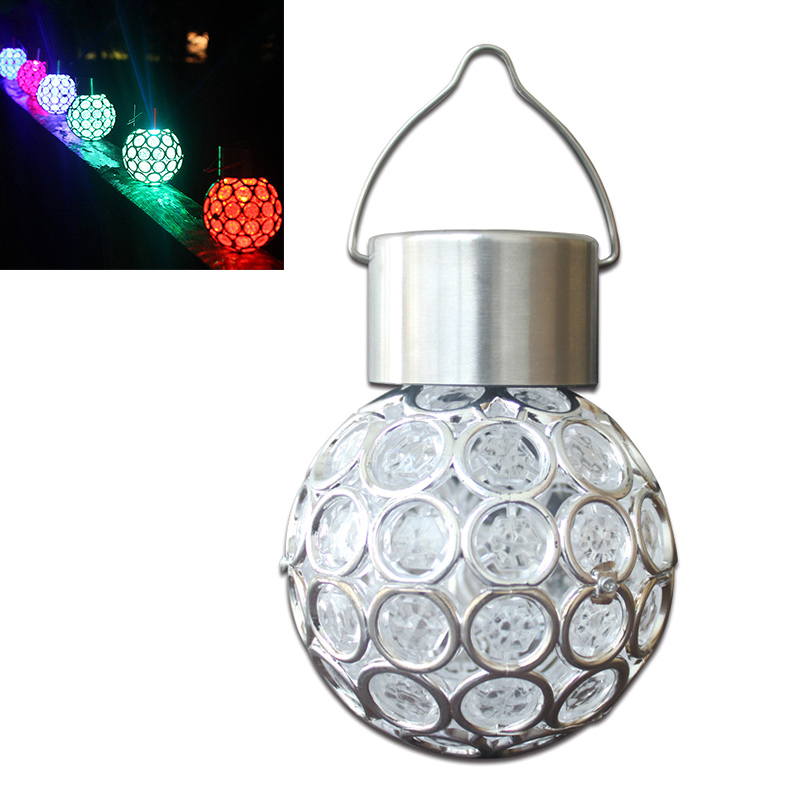 Solar LED Hanging Light Lantern Waterproof Hollow Out Ball Lamp for Outdoor Garden Yard Patio CLH@8 outdoor solar power led candle light yard garden decor tree palace lantern light hanging wall lamp clh 8