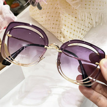 FEISHINI Celebrity Luxury Classic Eyewear Quality Sunglasses Female Original Brand Designer Pierced Sun Glasses Women Vintage