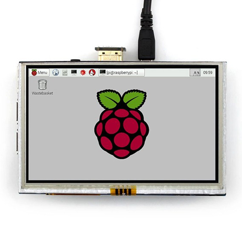 5 Inch Raspberry Pi 3 Model B LCD Touch Screen 800x480 TFT LCD Display Panel With HDMI Connector For Raspberry Pi 2 4 inch hdmi lcd ips screen 800 480 pixel for raspberry pi model b b raspberry pi 2 model b