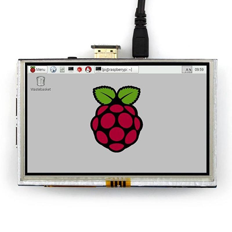 Prix pour 5 Pouce Raspberry Pi 3 Modèle B LCD Écran Tactile 800x480 TFT LCD Panneau D'affichage Avec HDMI Connecteur Pour Raspberry Pi 2